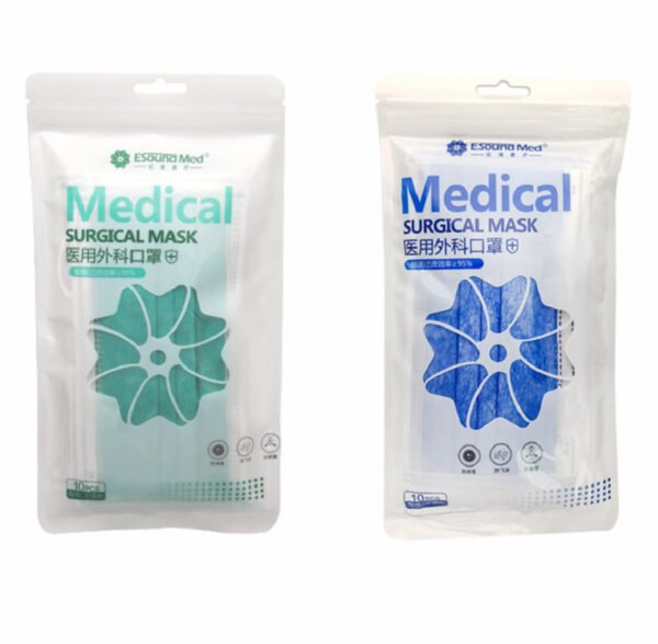 surgical face masks in zip lock bag